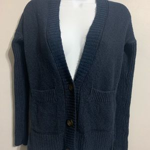 XS Hollister Navy Button Up Cardigan